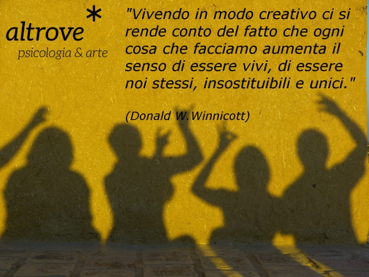 citazione di Winnicott sulla creatività