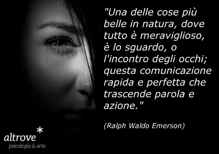 citazione di Emerson sullo sguardo
