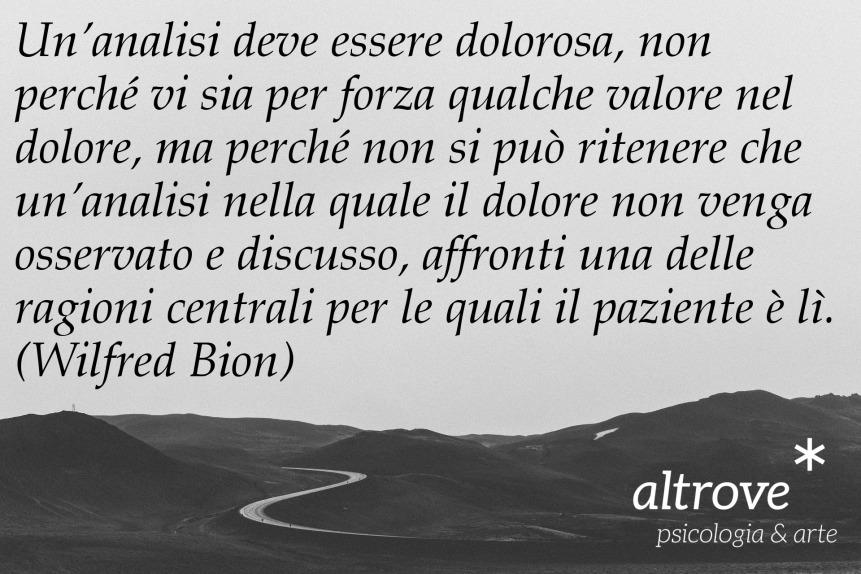 citazione sull'analisi di Wilfred Bion