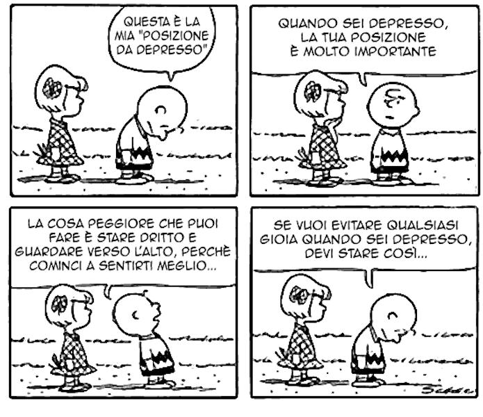 Peanuts, postura della depressione