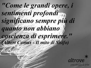 """citazione Albert Camus tratta da """"Il mito di Sisifo"""""""