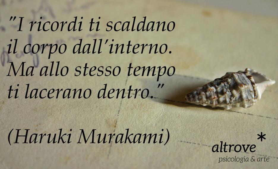 citazione sui ricordi di Haruki Murakami
