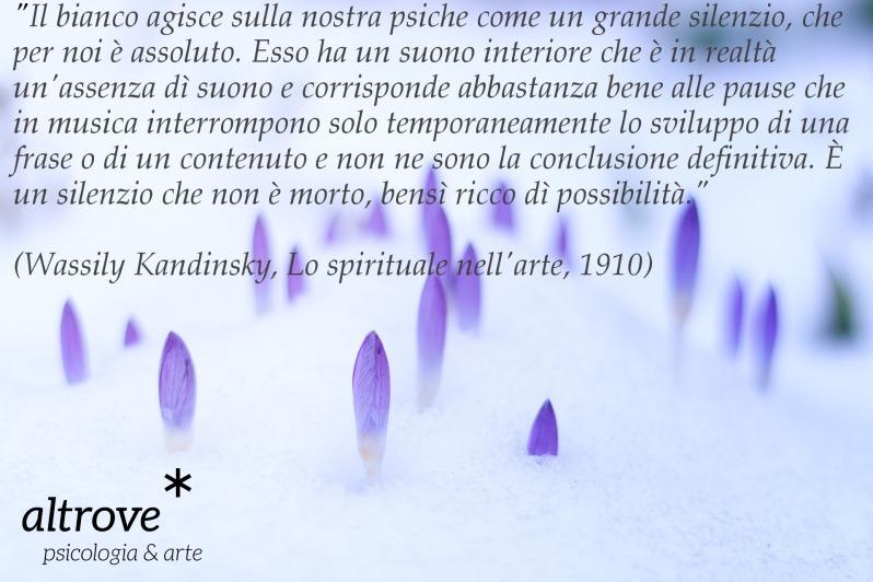 citazione sul bianco Kandinsky